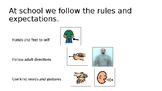 Expected and Unexpected Behaviors Presentation with sign pictures