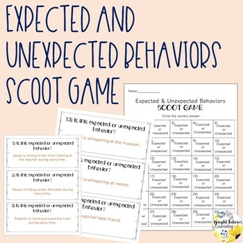Expected and Unexpected Behaviors Scoot Game