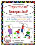 Expected or Unexpected?  54 Mini-Posters to Teach Social Skills and Behaviors
