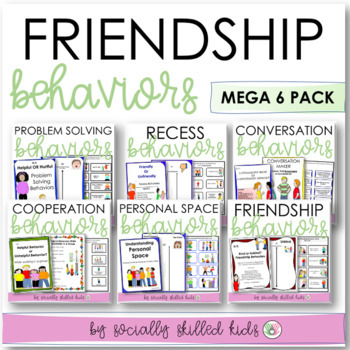 SOCIAL SKILLS: Friendship Behaviors Bundle {Differentiated k-5th Grade/Ability}