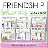 SOCIAL SKILLS Friendship Behaviors MEGA 6 Bundle {For k-5th Grade or Ability}