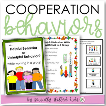 SOCIAL SKILLS: Cooperation Behavior {Differentiated For k-5th Grade/Ability}
