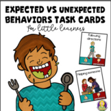 Expected vs Unexpected Behaviors Task Cards For Little Learners