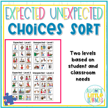 Expected vs. Unexpected Choices Sort - Zones of Regulation