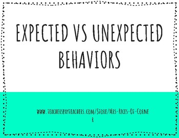 Expected vs Unexpected Instructional Lesson/Story -Zones of Regulation Companio