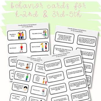 SOCIAL SKILLS ACTIVITIES: Recess Behaviors {Differentiated k-5th Grade/Ability}