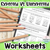 20 Social Skills Worksheets (Expected Versus Unexpected Be