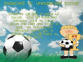 Expected vs unexpected soccer