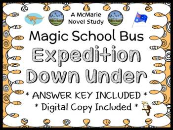 Expedition Down Under (Magic School Bus) Novel Study / Comprehension (27 pages)