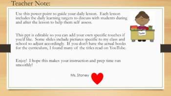 Expeditionary Learning 1st Grade PowerPoint Module 1 Unit 1 Lesson 1 (Editable)