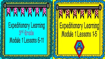 Expeditionary Learning 3rd Grade PowerPoint BUNDLE  Module 1:  Unit 1