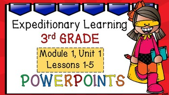 Engage NY Expeditionary Learning 3rd Grade PowerPoint Module 1: U1 Lessons 1-5