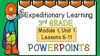 Engage NY Expeditionary Learning PowerPoint Module 1, Unit 1:  Lessons 6-11