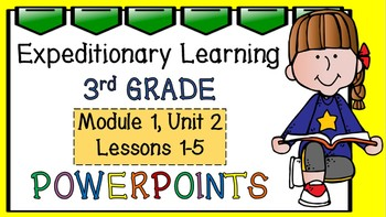 Engage NY Expeditionary Learning 3rd Grade Powerpoint Module1, Unit 2 Lessons1-5
