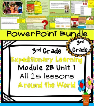 Expeditionary Learning 3rd Grade PowerPoint Bundle Module 2B Unit 1 Lessons 1-15