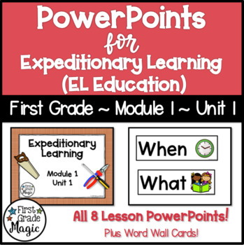Expeditionary Learning (EL Education) Module 1 Unit 1 PowerPoints
