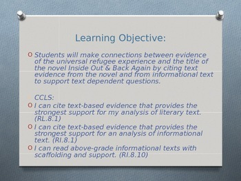 Expeditionary Learning ELA Grade 8 Module 1 Unit 2 Lesson 12 PowerPoint