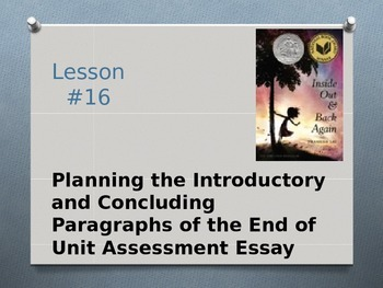 Expeditionary Learning ELA Grade 8 Module 1 Unit 2 Lesson 16 PowerPoint