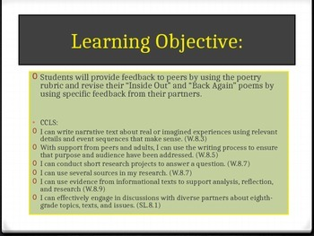 Expeditionary Learning ELA Grade 8 Module 1 Unit 3 Lesson 5 PowerPoint