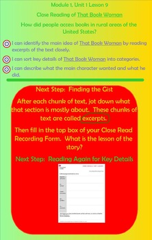 Expeditionary Learning Engage NY Module 1 Unit 1 Lesson 9 grade 3