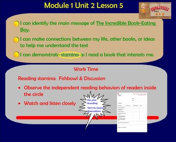 Expeditionary Learning Engage NY Module 1 Unit 2 Lesson 5 grade 3