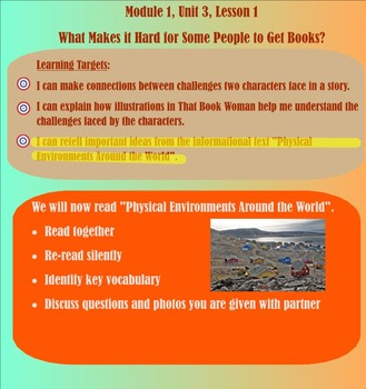 Expeditionary Learning Engage NY Module 1 Unit 3 Lesson 1 grade 3