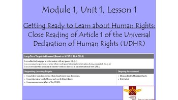 Expeditionary Learning Grade 5, Module 1, Unit 1, Lesson 1 Power Point Sample