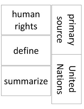 Expeditionary Learning Grade 5 Module 1 Unit 1 Vocabulary cards
