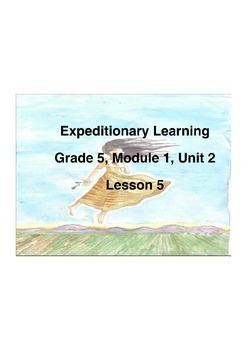 Expeditionary Learning Grade 5 Module 1 Unit 2 Lesson 5 Flip chart