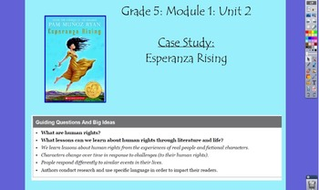 Expeditionary Learning Grade 5, Module 1, Unit 2 Flipchart