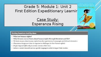 Expeditionary Learning Grade 5, Module 1, Unit 2 Power Point
