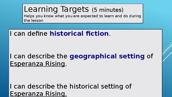 Expeditionary Learning Grade 5, Module 1, Unit 2 Power Point- 2015 Version