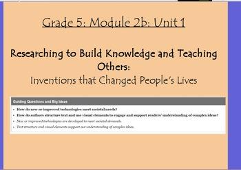 Expeditionary Learning Grade 5, Module 2B, Unit 1 Flipcharts