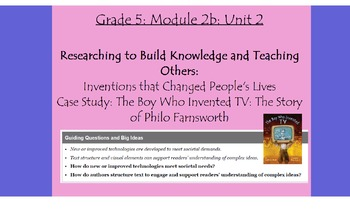 Expeditionary Learning Grade 5, Module 2B, Unit 2 Flipchart