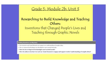 Expeditionary Learning Grade 5, Module 2B, Unit 3 Flipchart