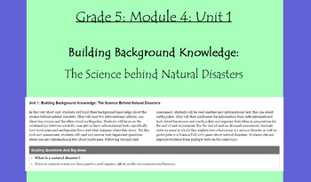 Expeditionary Learning Grade 5, Module 4, Unit 1 Flipchart