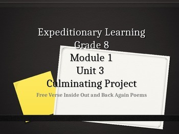 Expeditionary Learning Grade 8 ELA Module 1 Unit 3 Lesson 3 Power Point