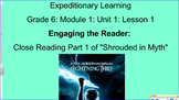 Expeditionary Learning Module 1, Unit 1, Grade 6