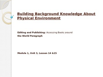 Expeditionary Learning Module 1 Unit 3 Lesson 14-15 Editing