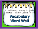 Engage NY Expeditionary Learning Module 1: Unit 3 Lessons 1-17 Word Wall
