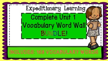 Engage NY Expeditionary Learning Module 1 Vocabulary Word Wall Bundle