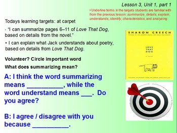 Expeditionary Learning Module 1B, 4th grade ELA, Unit 1, Lesson 3