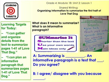 Expeditionary Learning Module 1B, 4th grade ELA, Unit 2, Lesson 1