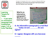 Expeditionary Learning Module 1B 4th grade ELA Unit 2  Lesson 2