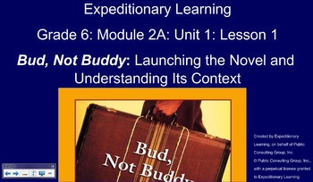 Expeditionary Learning Module 2A, Unit 1, Grade 6