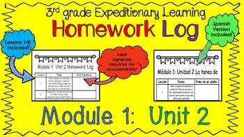 Engage NY Expeditionary Learning Module1:  Unit 2 Homework Log