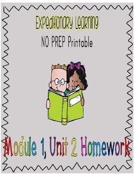 Engage NY Expeditionary Learning NO PREP M1U2 Homework