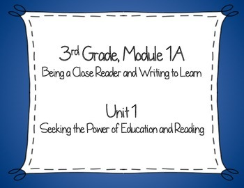 Expeditionary Learning, NYS, 3rd Grade ELA Module 1A, Unit 1, Lesson#1-11