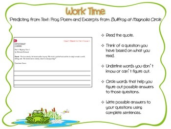 Expeditionary Learning, NYS, 3rd Grade ELA Module 2A, Unit 1, Lesson 1