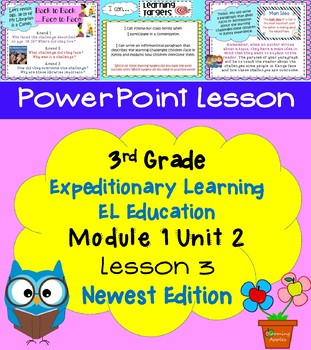 Expeditionary Learning EL Education 3rd Grade Power Point M1U2 Lesson 3